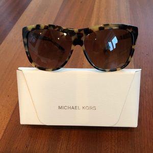 Michael Kors Tortoise and Gold Square Sunglasses